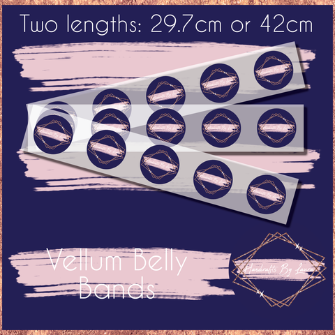 Branded Vellum Belly Bands