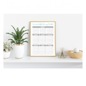 Personalised Re-usable Dry Wipe Cleaning Checklist