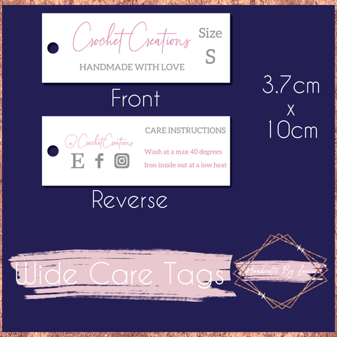 Wide Product Swing Tags