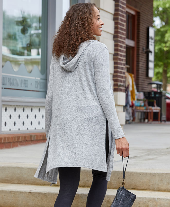 Back view of Women's Cuddle Hooded Cardigan