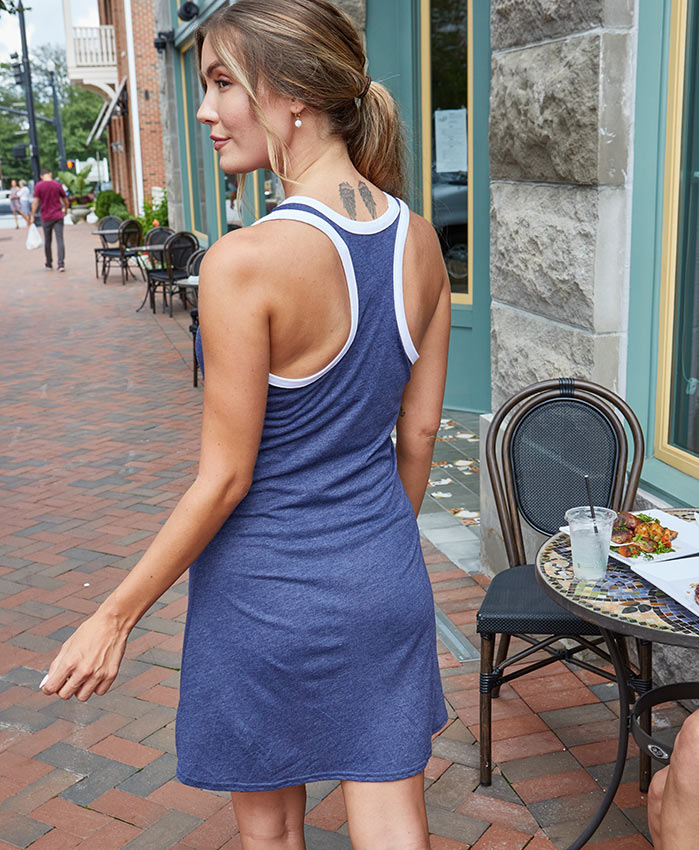 back view of Women's Ringer Dress