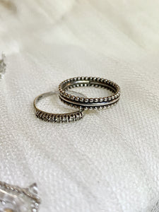 Decorative Ball Band Ring in Sterling Silver