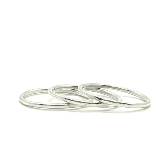 1.3mm Hammered Band Ring in Sterling Silver