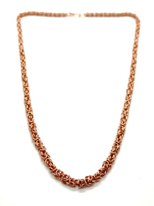 Handmade Delicate Copper Byzantine Chainmaille Necklace