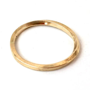 Delicate Möbius Ring in 14K Gold