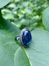 Load image into Gallery viewer, Kyanite & Blue Topaz Ring in Sterling Silver, Size 7.75