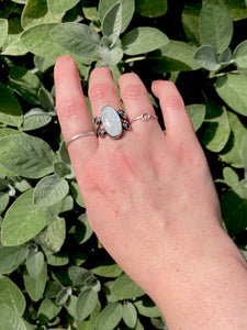 Moonstone Swirl Ring in Sterling Silver