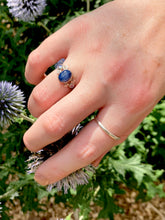 Load image into Gallery viewer, Star Sapphire & Tanzanite Ring in Sterling Silver, Size 6