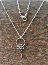 Load image into Gallery viewer, Sterling Silver, Amethyst, & Pink Tourmaline Necklace