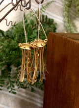 Load image into Gallery viewer, Brass Jellyfish Earrings with Sterling Silver Earwires