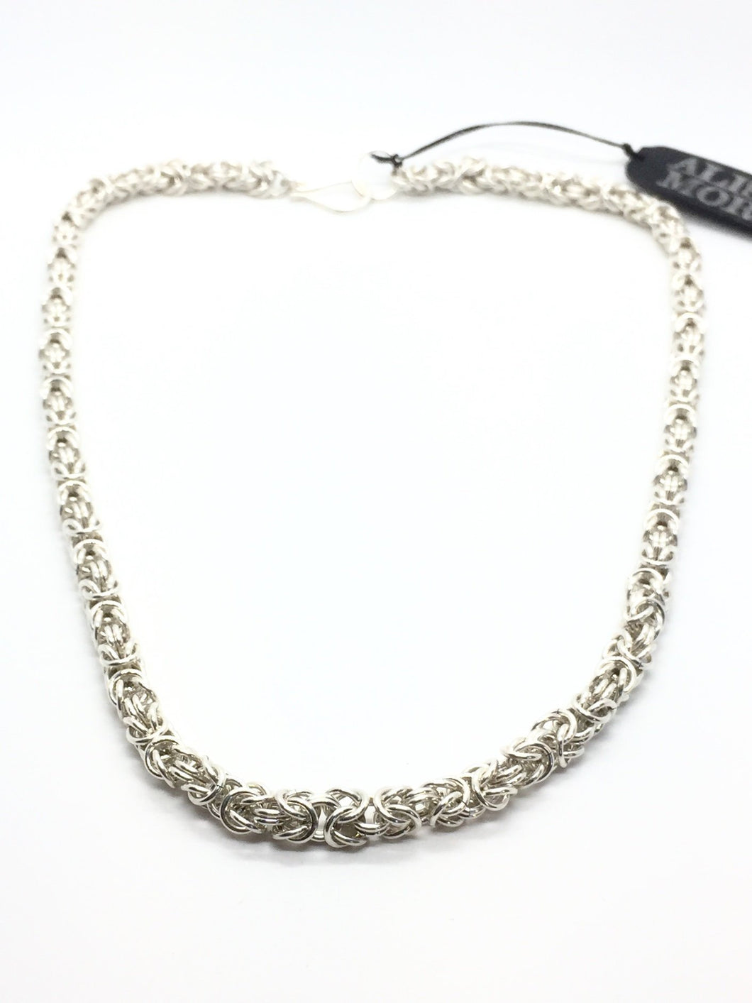 Handmade Sterling Silver Byzantine Chainmaille Necklace