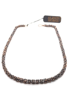 Handmade Oxidized Copper Byzantine Chainmaille Necklace