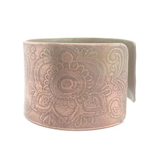 Load image into Gallery viewer, Copper Mehndi Bangle Cuff Bracelet