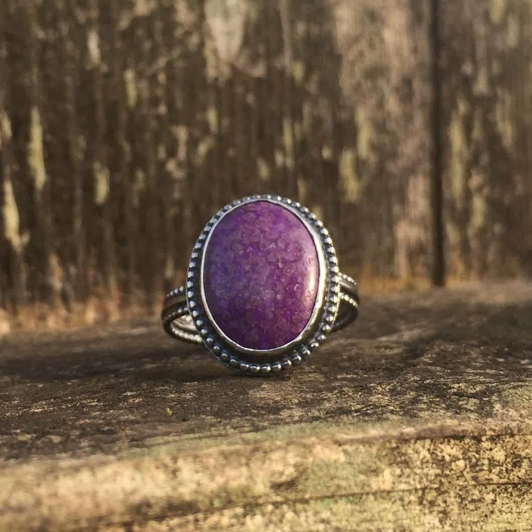 Purple Sugilite Ring in Sterling Silver