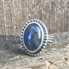 Load image into Gallery viewer, Labradorite Ring in Sterling Silver