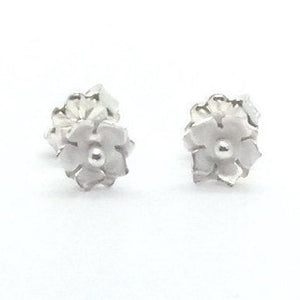 Sterling Silver Floral Stud Earrings