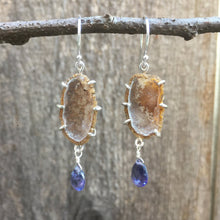 Load image into Gallery viewer, Geodina & Iolite Earrings in Sterling Silver