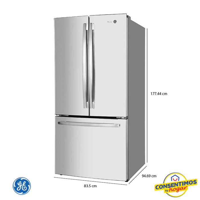 Refrigerador General Electric 25 piess PNM25FSKCSS - Inoxidable