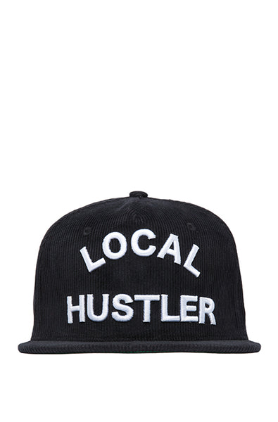 Local Hustler Black Corduroy Cap