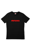 Happy People x Mwuana Black T-shirt