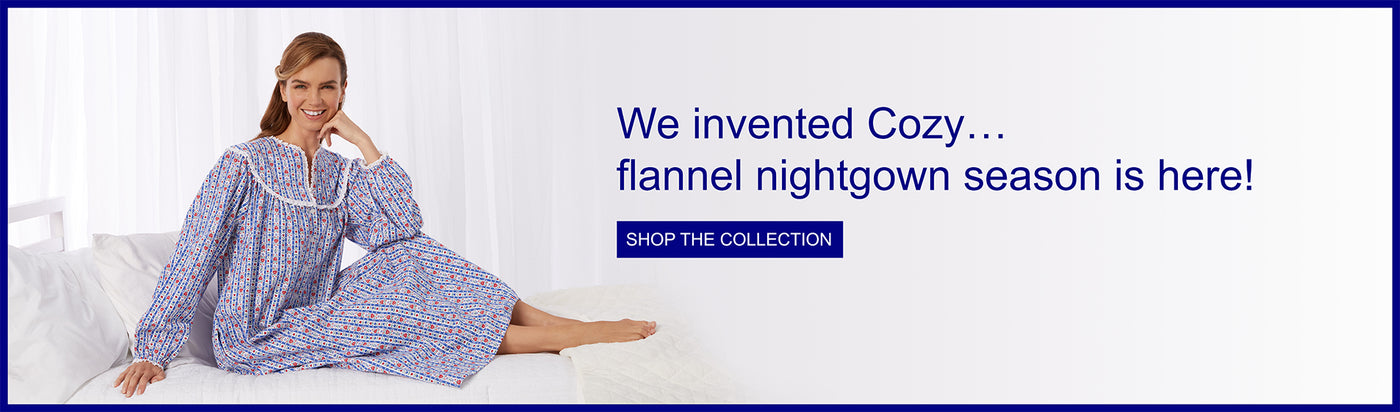 Lanz of Salzburg.  We invented cozy - Flannel nightgown season is here!