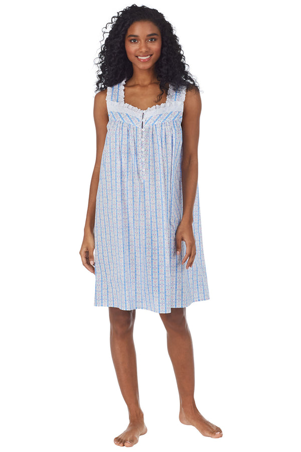 Tyrolean Heart Cotton Short Nightgown