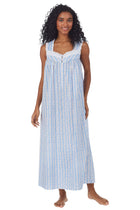 Tyrolean Heart Cotton Long Nightgown