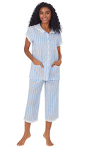 Tyrolean Heart Cotton Capri Pajama Set
