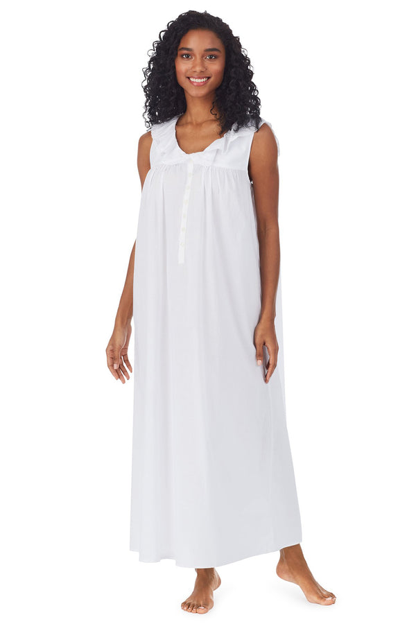 White Cotton Dream Long Nightgown