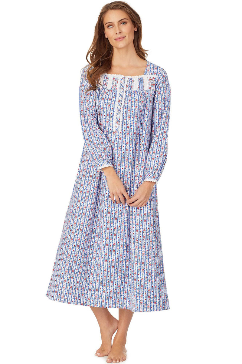 Eyelet Tyrolean Flannel Gown
