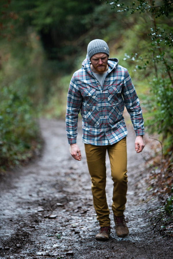 HEMYOCK HOODED PLAID SHIRT