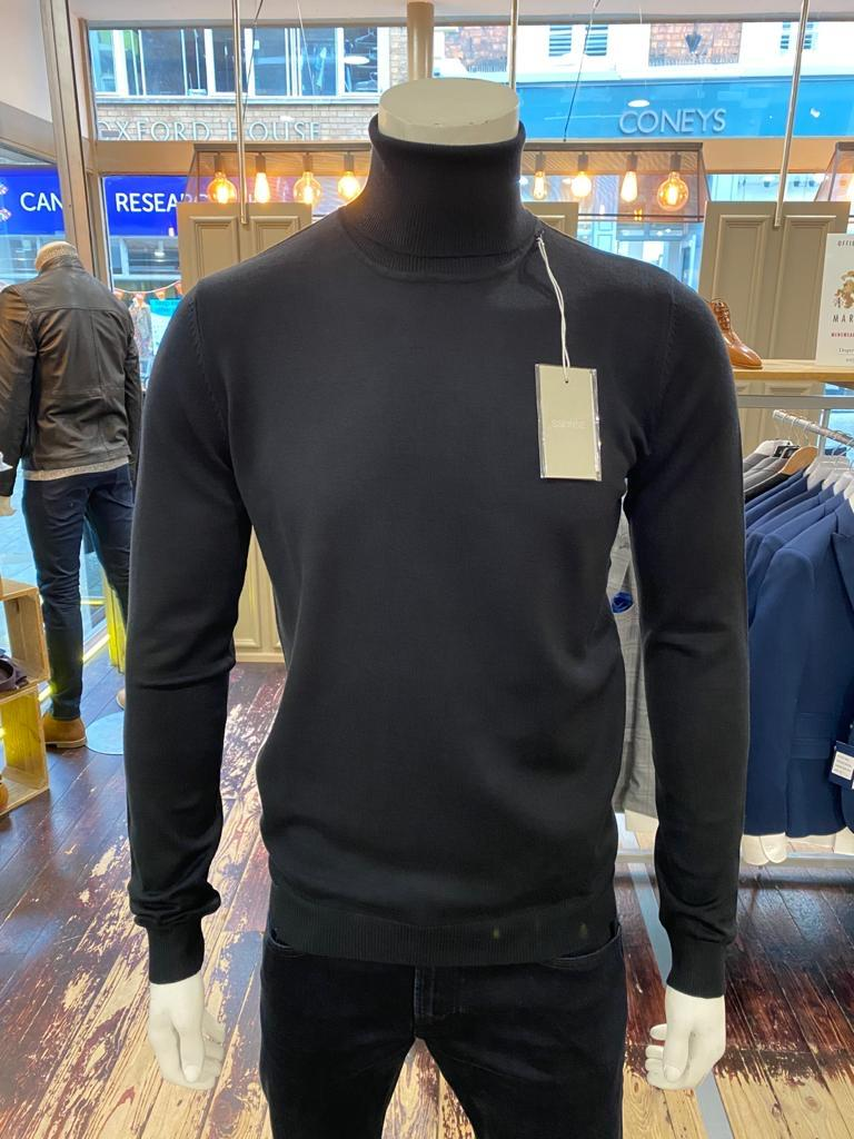 Sseinse rollneck in black from Gere Menswear