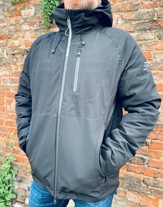 Black ECOALF technical jacket side view