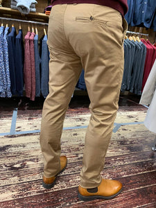 Martinique camel chino rear from Gere Menswear