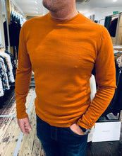 Load image into Gallery viewer, Casual Friday fine gauge jumper in burnt orange from Gere Menswear