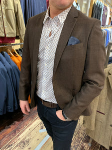 Antony Morato spotted shirt with Matinique brown blazer from Gere Menswear