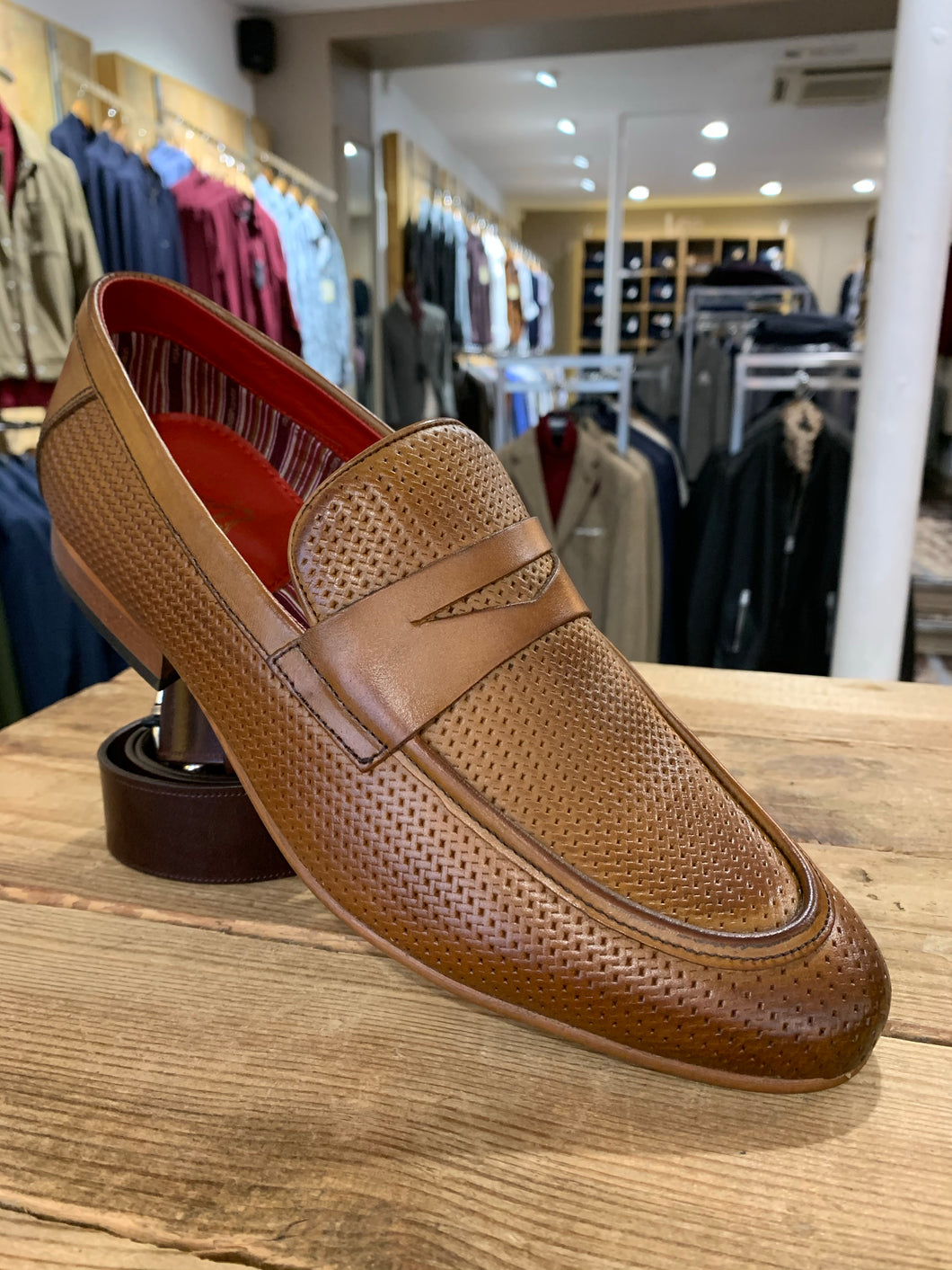 Base London woven effect loafer from Gere Menswear