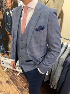 Marc Darcy 'Harry' blue three piece suit from Gere Menswear