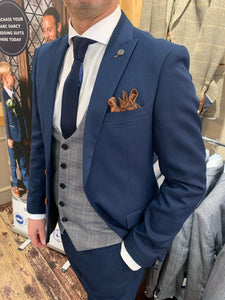 Marc Darcy 'Max Royal' jacket and trousers with contrasting 'Jerry' waistcoat (waistcoat, jacket and trousers sold separately) from Gere Menswear