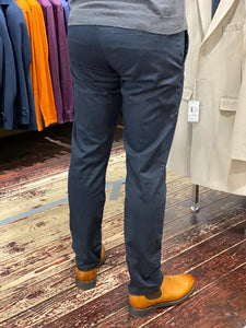Matinique slim fit chino in navy-rear from Gere Menswear