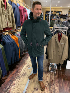 Colours & Sons green parka with sculpted hood from Gere Menswear