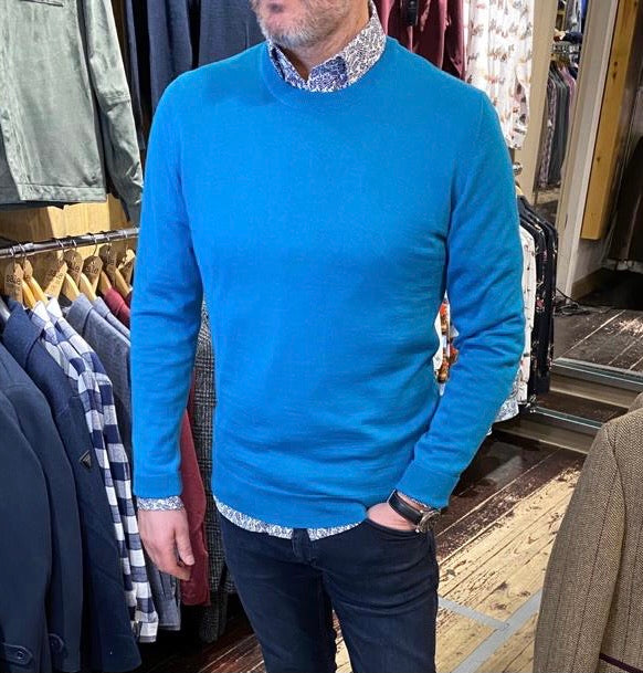 Matinique aquamarine jumper from Gere Menswear