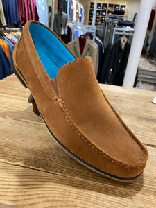 Paolo Vandini tan suede loafer