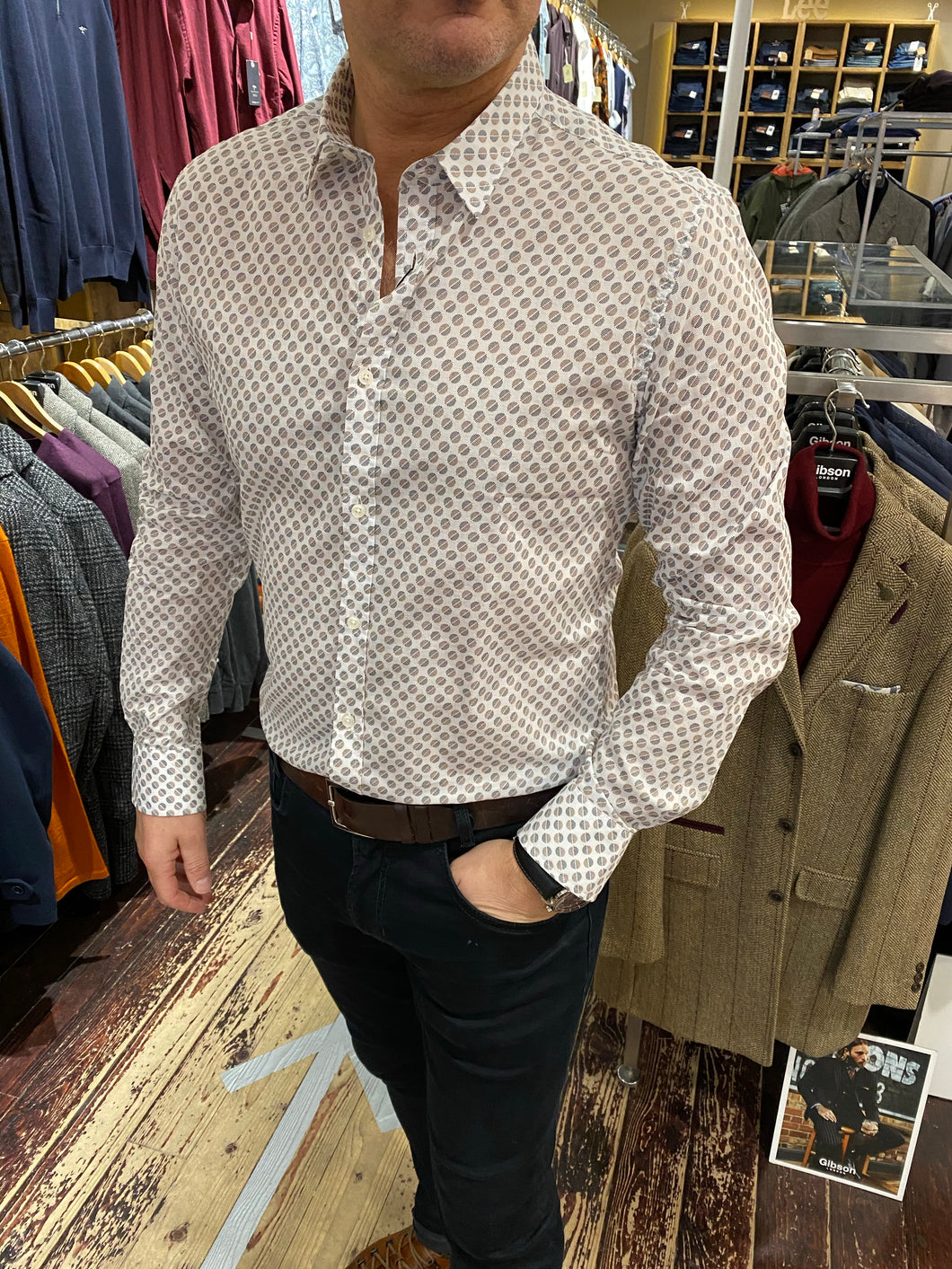 Antony Morato slim fit circle print shirt from Gere Menswear