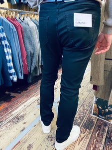 Casual Friday slim fit ULTRAFLEX true black jeans (rear view) from Gere Menswear in Lincoln
