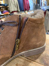 Load image into Gallery viewer, Lacuzzo brown oilskin boot with fur lining from Gere Menswear zip