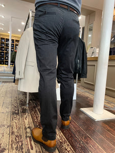 Matinique slim fit chino in grey - rear view from Gere Menswear