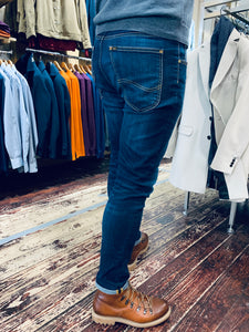 LEE 'Luke' slim tapered flex jeans in stonewash