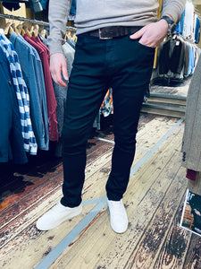 Casual Friday slim fit ULTRAFLEX true black jeans from Gere Menswear in Lincoln