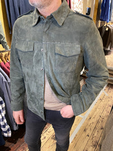 Casual Friday khaki suede jacket from Gere Menswear